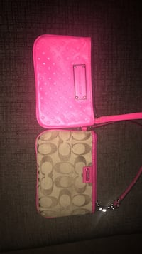 Two pink Victoria's Secret and brown-and-pink Coach leather wristlets Alexandria, 22311