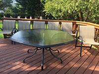 Outdoor Dining Table with 6 Chairs 46 mi