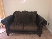 Brown love seat and sofa with two side tables and coffee table Dallas, 30157