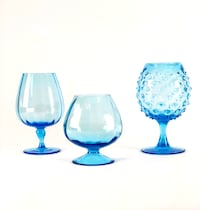 Blue Mid Century Modern Brandy Snifters