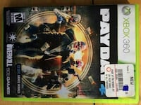 Payday Xbox 360 game case
