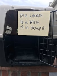 black and grey pet carrier