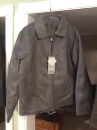 Jacket faux leather and suede, men's medium, brand new with tags