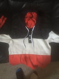 Navy blue red and white hoodie  3158 km