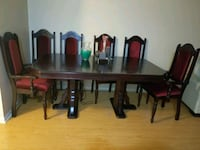 cherry wood dinner table and 6 chairs Toronto, M6M 5G9