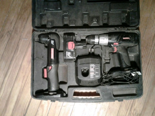 Craftsman drill set in carry case.