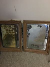two brown wooden framed wall mirrors Edmonton, T6J 5P9