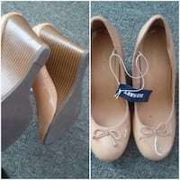pair of beige leather flats Chattanooga