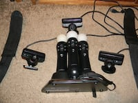 PS Move Bundle - 3 Controllers/Eyes, Charger, 2 Straps Livonia