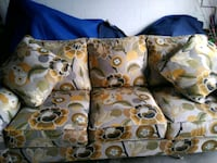 brown and white floral throw pillow Tampa, 33614