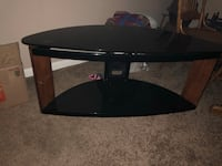 black wooden TV stand with mount Omaha, 68106