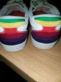 White with rainbow heel Nike womans shoes Westerville, 43081