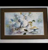 white and green flowers painting Montréal, H1G 4V8