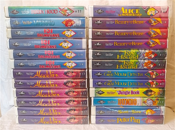 Where Can I Sell My Vhs Tapes >> 27 Walt Disney Black Diamond Vhs Tapes