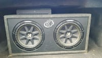 Subwoofers with 2 amps and equalizer!! Edmonton, T6T 1W6