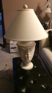 White and brown table lamp Ajax, L1Z