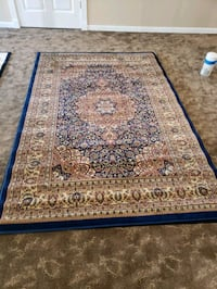 Dark blue,cream and brown color,5'by8',new rugu New Brighton, 55112