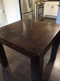 brown solid wood table VANCOUVER