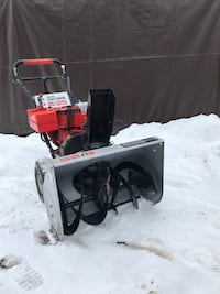 Red and gray craftsman snowblower Barrie