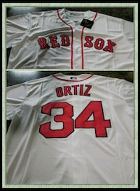 white and red Chicago Red Sox Ortiz 34 jersey top collage Tacoma, 98444