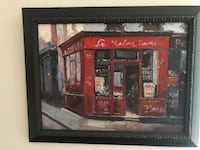 red store painting with black wooden frame Westlake, 44145