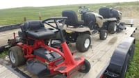 red and black zero turn mower Center, 58530