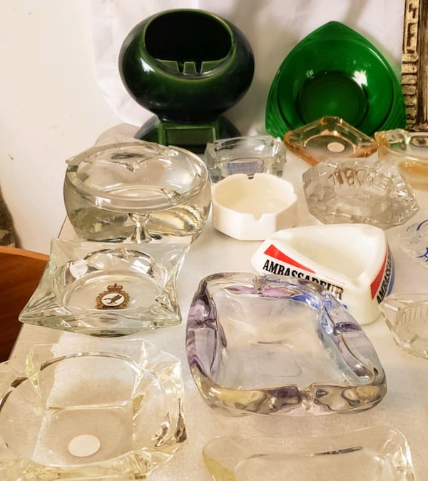 Over 100 Ashtrays $2 and up. 145b7e94-445f-49fd-97c2-5ffd846ee673