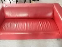 Red IKEA leather sofa Bowmanville, L1C 2N2