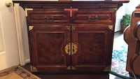 Brown wooden cabinet with drawer Arnold, 21012