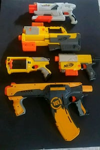 Assortment of nerf guns and accessories  Palisades Park, 07650