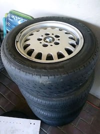 four gray BMW multi-spoke vehicle wheel with tire set North Highlands, 95660