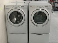 Whirlpool Duet H/E WASHER AND DRYER SET ON PEDESTALS 4 month warranty Charlotte, 28273