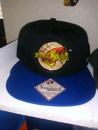 black and blue Space Jam Snapback fitted cap Pasco, 99301