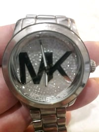 Silver Michael  Kors  watch with  sparkles