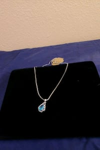 Sterling silver chain with blue sapphire Las Vegas, 89119
