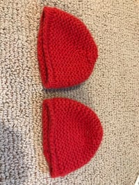 Cashmere red baby hats 0-12 months Seven Fields, 16046