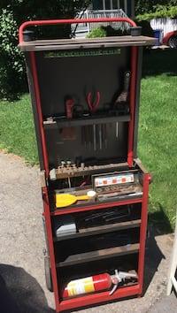 red and black Craftsman tool cabinet Laval, H7L 2P7