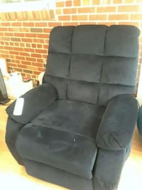 black suede recliner sofa chair 47 km