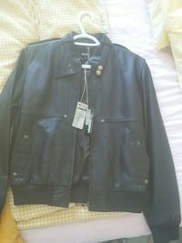 black zip-up leather jacket Ottawa, K2E 6K6