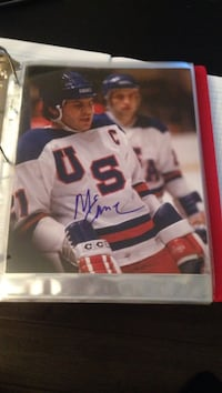 Mike Eruzione signed USA 8x10 photo Burnaby, V5H 2H4