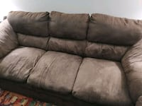 Brown Three seater couch Surrey, V3W 7V7