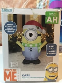 Inflatable minion Christmas decoration  Mississauga, L5N 7J4