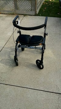 black and silver rollator