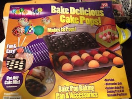 New cake pop pan set and accessories.