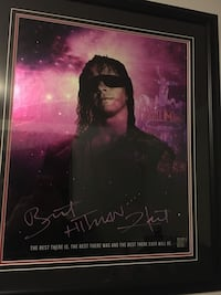 Bret Hart Autographed Framed Piece w. COA Barrie, L4M 2R1