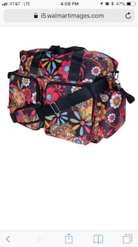 Black, red, and blue floral diaper bag Long Beach, 39560