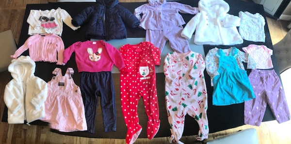 e6670882eddf Clothes for baby girl 9-12 months. Includes a winter jacket usado en ...