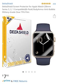 Apple Watch 38mm screen protectors (pack of 6) Frederick, 21702