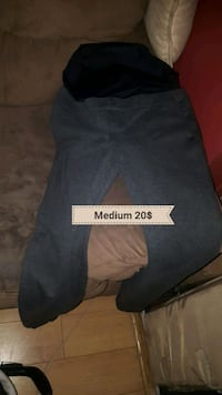 blue and black Adidas pants 798 km