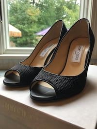 JIMMY CHOO WEDGE SHOES $595 designer discount source King of Prussia